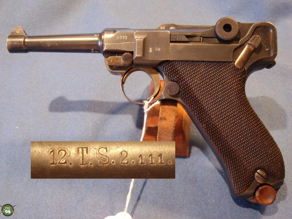 sold DBL2 VERY RARE 1911 ERFURT LUGER UNIT MARKED - Pre98